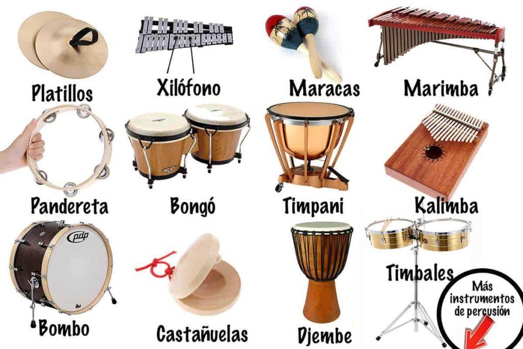 instrumentos de percusión nombres