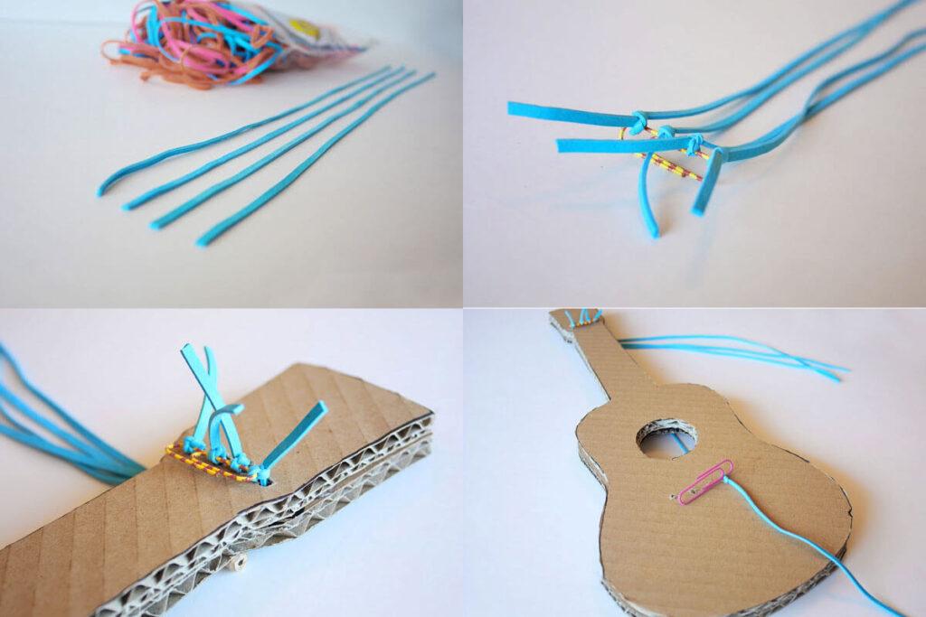 como-hacer-una-guitarra-con-una-caja-de-carton-y-ligas